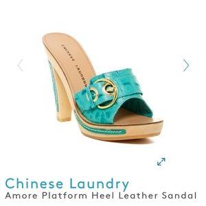 NIB Chinese Laundry Amore Platform Leather Sandal